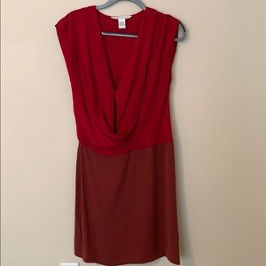 Diane Von Furstenberg, two toned red dress
